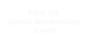 FOA Speed networking
