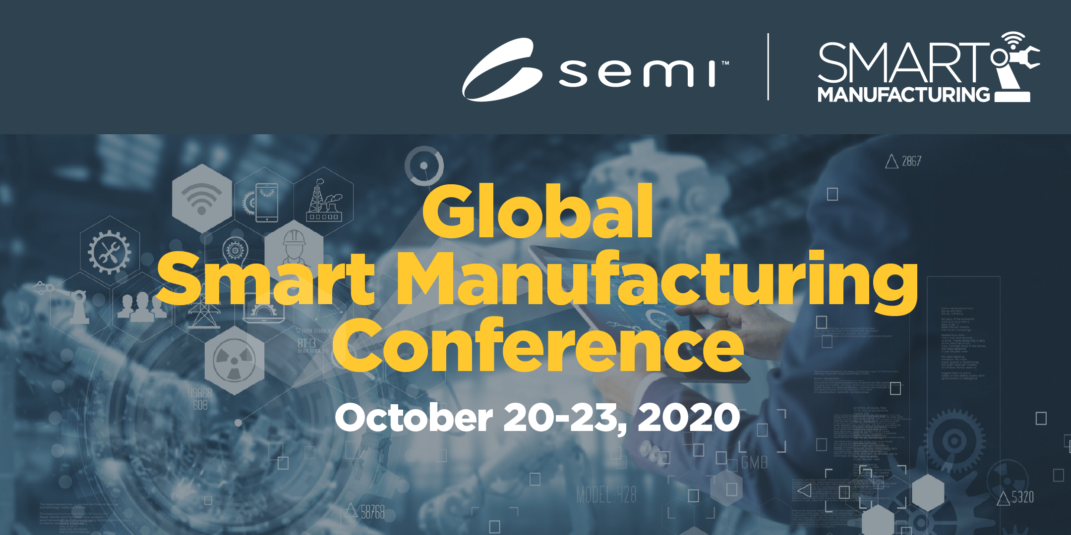 2020 Banner for Global Smart Manufacturing Conference