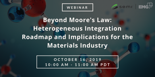 Beyond Moore's Law: Heterogeneous Integration Roadmap and Implications for the Materials Industry webinar